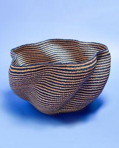 Wave Basket - Handwoven in Ghana