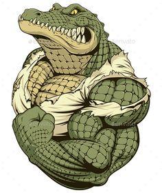 Ferocious Strong Crocodile - Sports/Activity Conceptual