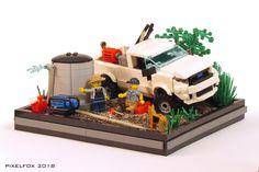 Van Lego, Lego Truck, Lego Pictures, Lego Builder, Cool Lego Creations, Lego Group, Lego Models, Lego Moc, Firefighters