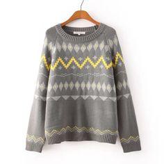 Geo-band Sweater