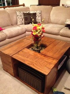 Crate coffee table diy on instructables