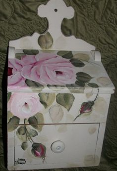 shabby cottage HP Rose Vintage recipe box
