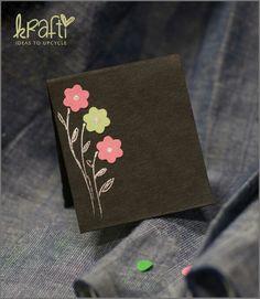 Handmade krafti miniature card.