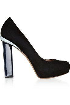Nicholas Kirkwood Glitter-finished suede pumps | THE OUTNET #ShoeTime