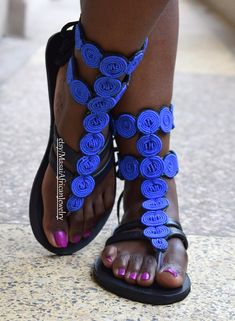 This item is unavailable Beaded Shoes, Beaded Sandals, Mens Fashion Shoes, Fashion Sandals, Gladiator Sandals, Leather Sandals, Zulu, Kenya, Bohemian Shoes