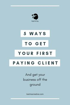 #karimacreative Getting your first client can often seems like an impossible job. Where do you find them, how do you approach them and how to keep them coming? Go to the blog and find out my 5 ways to get your first paying client and really start your business