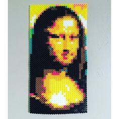 Mona Lisa hama beads by sokay_designs