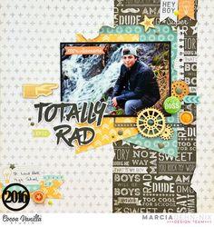 Totally Rad - Cocoa Vanilla Studios Totally Rad collection - Senior scrapbook layout