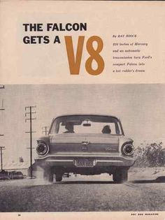 1960 FORD FALCON V8  ~  GREAT 5-PAGE ARTICLE / AD