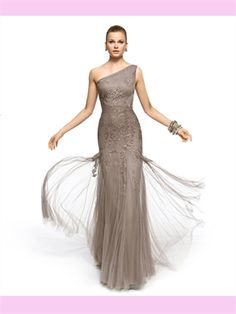 One Shoulder Lace Tulle 2013 Prom Dresses. Forget Prom, this would make an oh-so-glamorous bridesmaids dress!