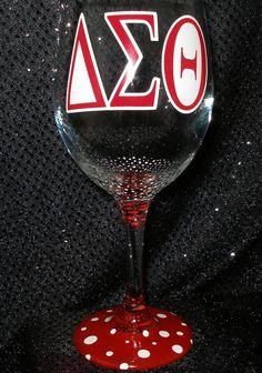 Delta Sigma Theta Wine Glass