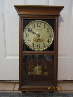 Vintage 31 Day Tall Waltham Chime Regulator Wall Clock In