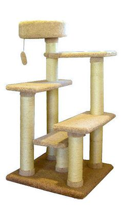 Majestic Pet Products Kitty Cat Jungle Gym Cat Tree is covered in designer carpet. This Kitty Cat Furniture features Five lounging platforms for your cat or Diy Cat Tree, Cat Tree Condo, Cat Condo, Cat Jungle Gym, Cat Gym, Cat Climbing Tree, Condo Furniture, Cat Towers, Fancy Cats