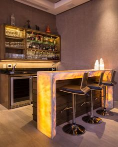 49 Modern Home Bar Designs Related posts: Tips To Build Modern Bar Cabinet Designs For Home Modern Home Bar Interior Designs 15 High End Modern Home Bar Designs For Your New Home genius modern bar designs you must try for home 24 Home Bar Rooms, Diy Home Bar, Home Bar Decor, Diy Bar, Home Bars, Mini Bar At Home, Home Bar Counter, Bar Counter Design, Bar Kitchen