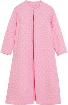 Emilia Wickstead - Helen Oversized Cotton-blend Cloqué Coat - Pink