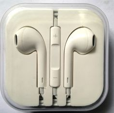 iPhone 5 5S 5C Headphones Earpods Handsfree with Mic and Volume Controller White