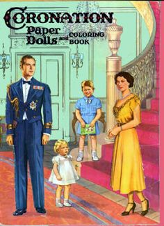 Queen Elizabeth paper dolls and coloring book.