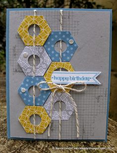 Canopy Crafts: A String Full of Hexagons {PP186} fresh color combination for us this week at The Paper Players:
