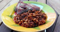 smoked barbecue beans         http://www.babble.com/best-recipes/smoked-barbecue-beans/