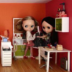 What the studio used to look like! #dollhouse #blythe #squeakytowers - @squeakymonkey- #webstagram