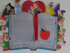 Risultati immagini per murales escolares para el dia del libro Library Displays, Classroom Displays, Classroom Themes, School Decorations, School Themes, Bulletin Board Design, Drama Activities, Fairy Tales Unit, Fairy Tale Theme