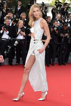 Karlie Kloss in Versace - Cannes Film Festival 2015: Red Carpet | Harper's Bazaar