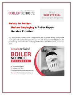 Boiler repair service provider