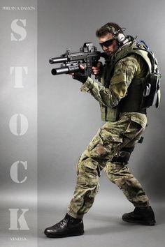 Combat Soldier STOCK IX by PhelanDavion.deviantart.com on @DeviantArt