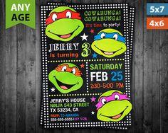 Ninja Turtles Invitation, Ninja Turtles Birthday Invitation, Ninja Turtles Party, Ninja Turtles Birthday, Ninja Turtles Printable by VitaPrintable on Etsy https://www.etsy.com/listing/490351092/ninja-turtles-invitation-ninja-turtles