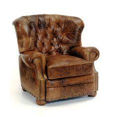 Bradington-Young Living Room Cambridge 3-Way Reclining Lounger W/Brass Nails 3659 - Bradington Young - Hickory, NC