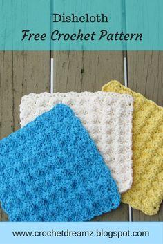 Make a dishcloth or washcloth using this free crochet pattern