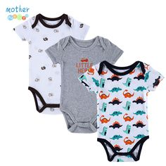 Cool BABY BODYSUITS 3PCS 100%Cotton Infant Body Short Sleeve Clothing Similar Jumpsuit Printed Baby Boy Girl Bodysuits - $ - Buy it Now!