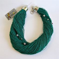 Yarn necklace  green