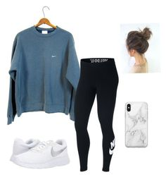"""Sporty Casual"" by kkayyllee on Polyvore featuring NIKE and Recover #polyvoreoutfits"