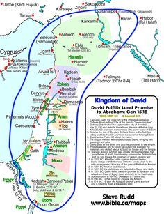 Koninkrijk van David: Voldoet Abrahams land Promise 997-995 BC: 2 Sam 8-10; 1 Kronieken 18-20: Timeline, kaarten, chronologie, preken