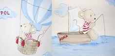 Murales infantiles y cuadros para la habitación del bebé, Carol Moreno. Mamidecora.com
