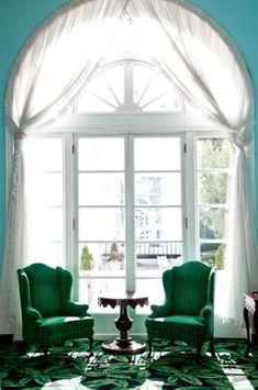 Greenbrier Hotel, West Virginia--marvelous window!