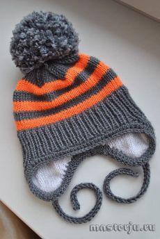 Детская зимняя шапочка (Вязание спицами) | Журнал Вдохновение Рукодельницы