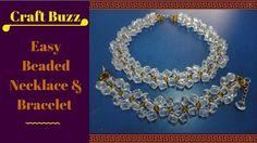 Jewelry Making Video Tutorial // Easy Beaded Necklace & Bracelet // DIY ...
