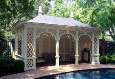 Pool House Chic: Follies, Cabanas and Tents | The Well Appointed House Blog: Living the Well Appointed Life