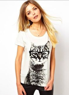 Camiseta estampa gato geek - Frete Grátis - LEIA DESCRIÇÃO COM PRAZO DE ENTREGA