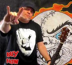 Mitts Madball. Black Plectrum Horns shirt.  A perfect gift for all those guitar players and lovers. Sizes Small - 5XL. Buy now from SCM Facebook store. Click the link to go directly to this item.