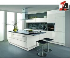 ALNO AG Altano KÜCHE grifflos Avior HG weiss Musterküche mit Fronteingriff Must in Möbel & Wohnen, Komplett-Küchen & Ausstattung, Komplett-Küchen   eBay!