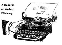 A handful of writing efficiency (complete with Jack London's seal of approval) via Corona typewriters. #vintage #office #supplies #typewriter