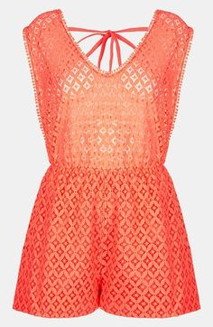 Topshop Lace Cover-Up Romper.