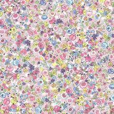 Pradera Pink Vintage Floral Wallpaper