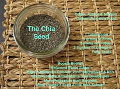 The Chia Seed: Nutritional Benefits   by Freshly Grown