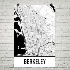 Memphis tennessee city street map print custom wall map pinterest berkeley ca street map poster malvernweather Images
