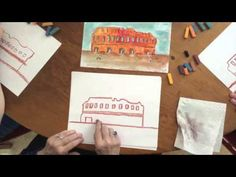 How to draw the Coliseum using Chalk Pastels - YouTube