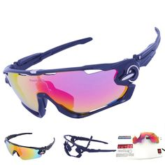 8e089b9636 3 Lens Mens Polarized Brand Cycling Glasses Mountain Bike Goggles Sport MTB  Eyewear Bicycle Sunglasses Tour De France - Mountain Bikes For Sale